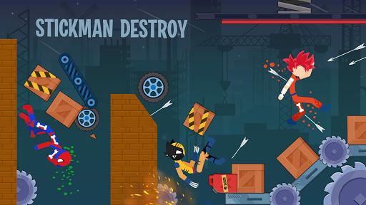 Stickman Destroy - Super Warriors Destruction screenshot 1