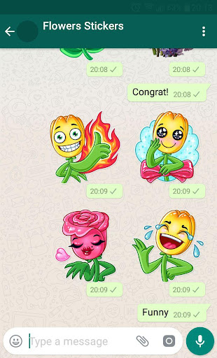 New WAStickerApps ud83cudf39 Flower Stickers For WhatsApp 1.3 screenshots 1