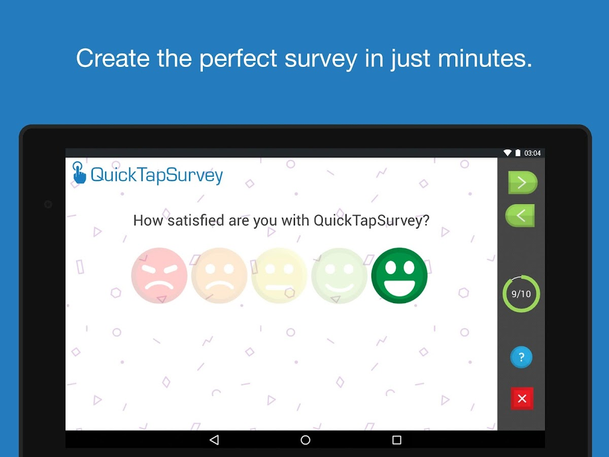 QuickTapSurvey Offline Survey- screenshot