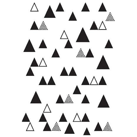 Kaisercraft Embossing Folder 4X6 - Triangle Trees UTGÅENDE