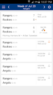 Baseball Schedule for Rangers: Live Scores & Stats - náhled