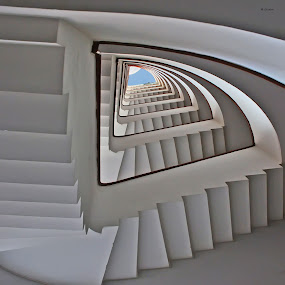 Stair to Heaven by Luigi Alloni - Buildings & Architecture Other Interior ( roma, stair, g.hostbuster, rome, prospettiva, perspective, scala )
