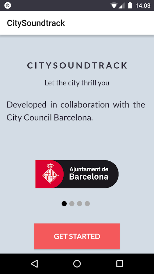 CitySoundtrack- screenshot