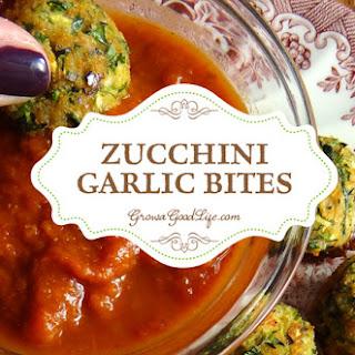 Baked Zucchini Garlic Bites