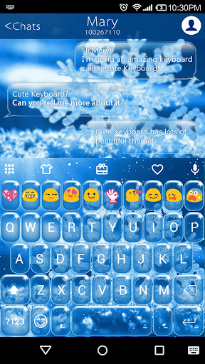 Sparkling Ice Emoji Keyboard
