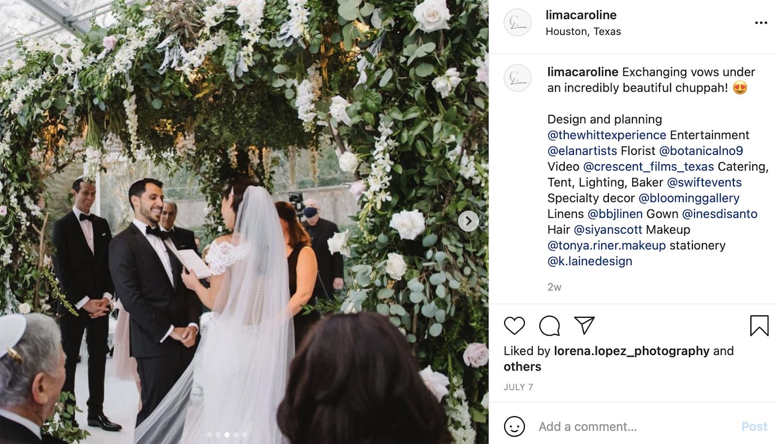 Jewish ceremony with jewish wedding instagram caption