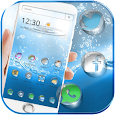 Blue Water Theme with water drop icon