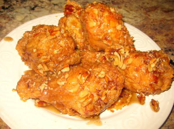 Honey Pecan Glazed Fried Chicken