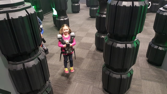 Laser tag at Sports Connection in Charlotte for AnswerConnect team meetup