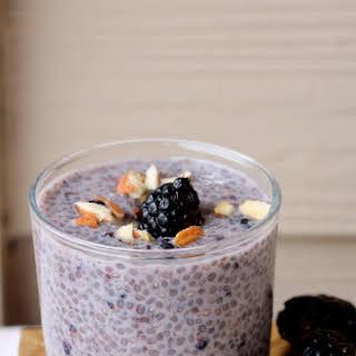 Blackberry Almond Chia Pudding.