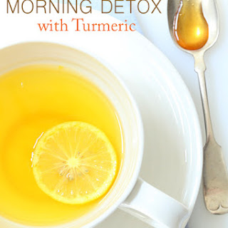 Lemon Ginger Morning Detox Drink.