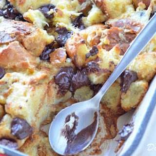 Chocolate Chip Challah Bread Pudding.