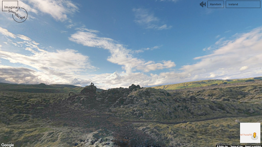 image of mountains from google street view
