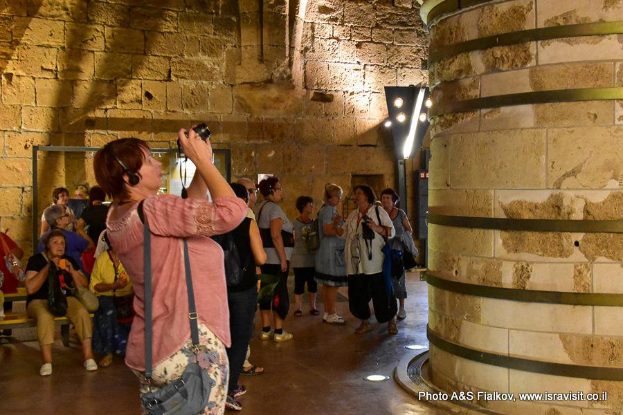 Колонный зал, трапезная, рефекториум в крепости крестоносцев – госпитальеров в Акко. Гид Светлана Фиалкова.
