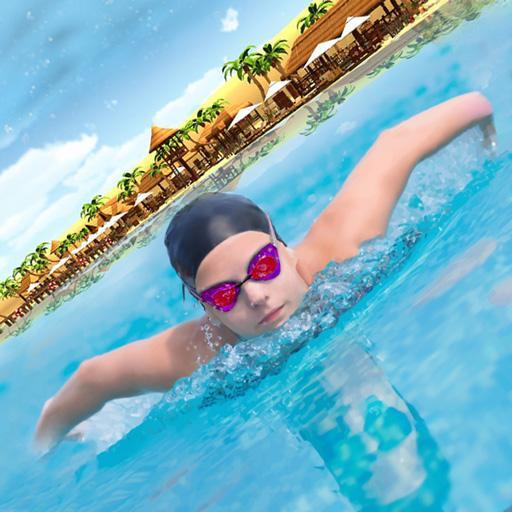 Women's Beach Swimming Race Game