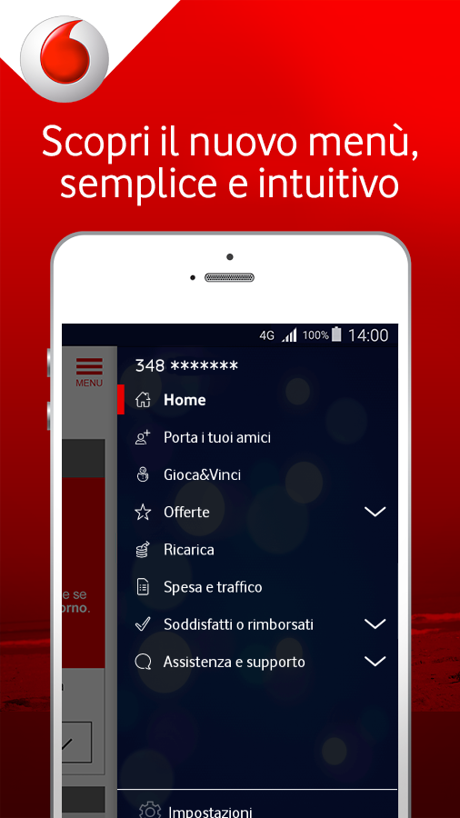 Screenshots of My Vodafone Italia for iPhone
