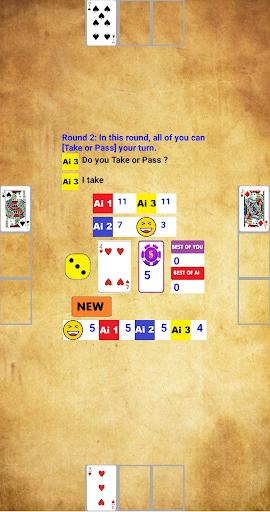 Simple Black Jack: You and 3 AI screenshots 3