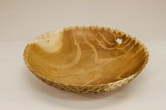 "Photo: Joe Barnard 7"" x 2"" carved bowl [Osage orange]"