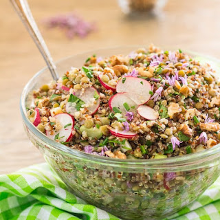 French Green Lentil and Quinoa Salad.
