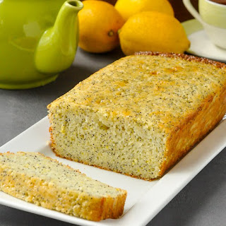 Lemon Poppy Seed Loaf Cake - with lemon glaze!