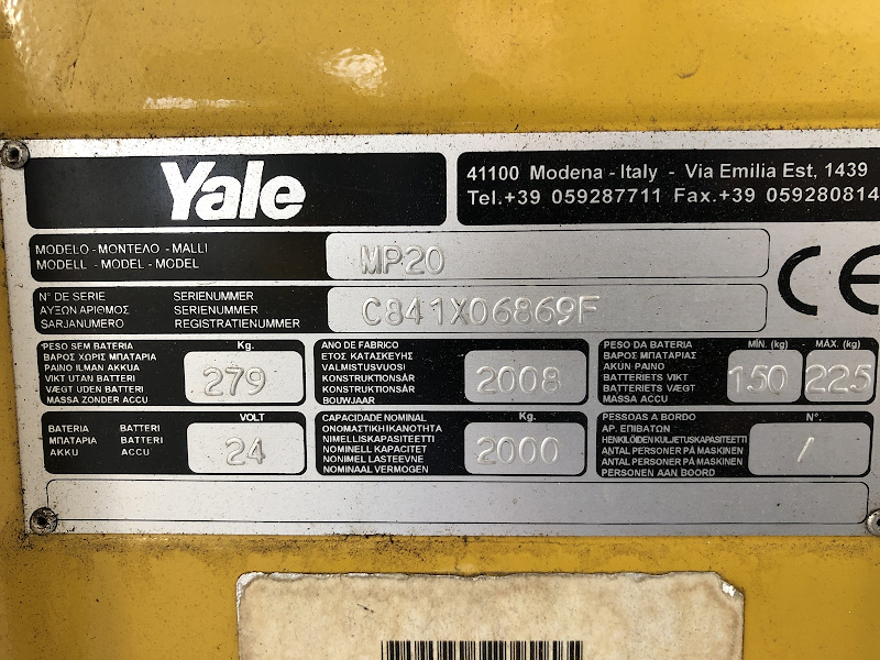 Picture of a YALE MP20