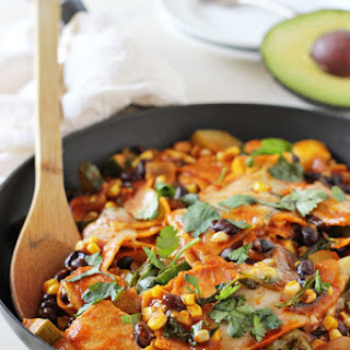 Summer Vegetable Skillet Enchiladas