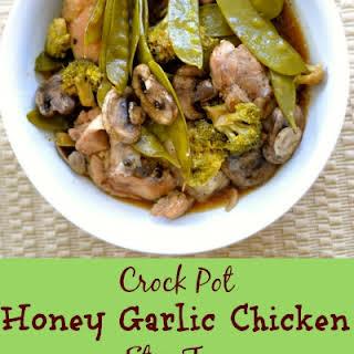 Crock Pot Honey Garlic Chicken And Veggie Stir Fry.