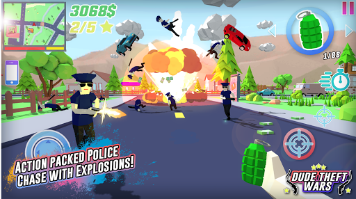 Dude Theft Wars: Open World Sandbox Simulator BETA  captures d'écran 1