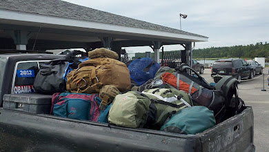 Photo: Gear for the group - Beaver Island Ferry Dock