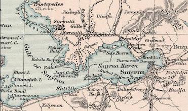 Photo: İzmir Körfezi haritası yıl 1891