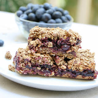 Gluten Free Blueberry Oat Squares.
