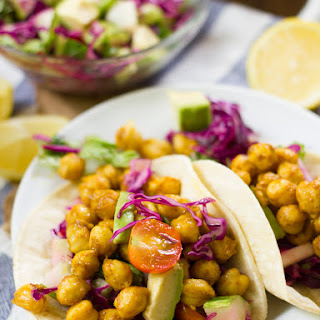 Curried Chickpea Tacos.