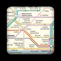 Paris subway map icon
