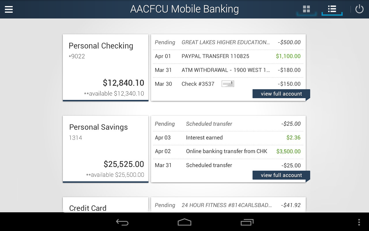 AACFCU MOBILE BANKING - screenshot