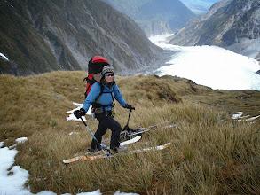 Photo: ski as far as you can, here above Chancellor hut, Fox Glacier, NZ