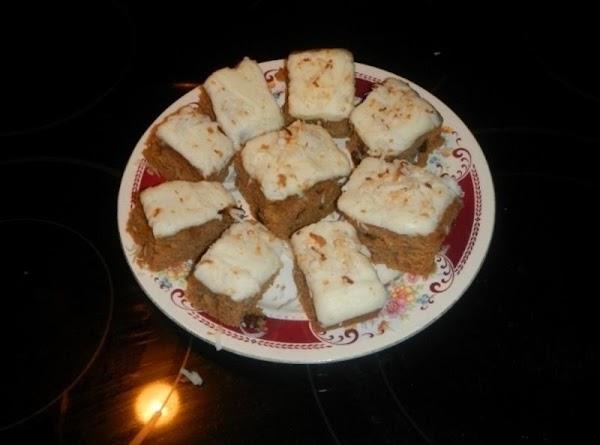 Frosted Apple Sauce Raisin Bars - Steph Recipe