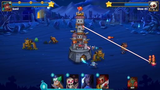 Spooky Wars - Castle Battle Defense Strategy Game screenshots 1