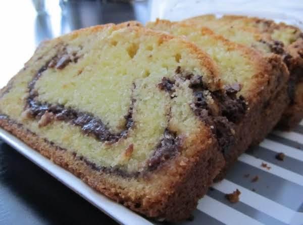 Nutella Swirl Pound Cake Recipe