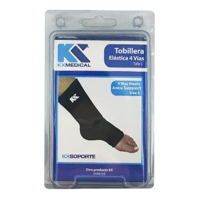 tobillera kx elastica 4 vias talla s Producto elaborado con poliéster. ¡Conoce la amplia línea de productos en soporte terapéutico que KX Medical trae para ti!