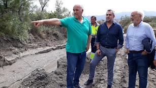 Recorrido ayer mañana en el municipio de Serón, el más afectado.