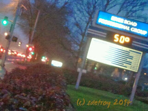 Photo: oh yes it is over 50 degrees.. Yeah... I am happy to be waiting for the bus in 50 degree weather.