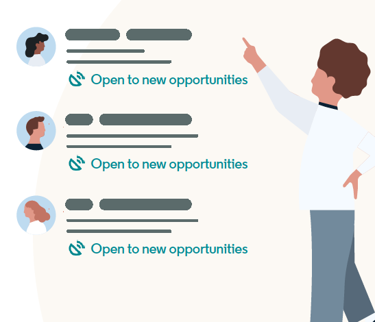 Set alerts to quickly identify candidates open to opportunities. Source: LinkedIn