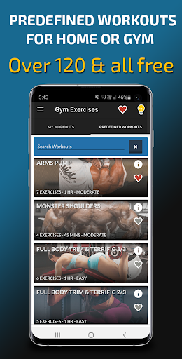 Gym Exercises & Workouts 3.30 screenshots 1