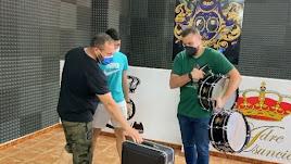 Préstamo de instrumentos de la banda Madre Asunción de Huércal-Overa.