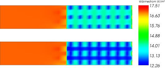 Photo: Wärmestrombild von Brettsperrholz ohne und mit Lufteinschlüssen