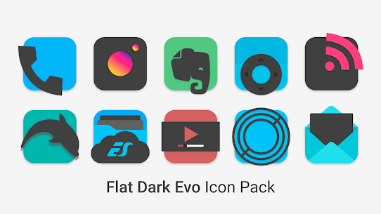 Flat Dark Evo – Icon Pack 2