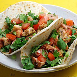 Grilled Tahini-marinated Chicken Tacos