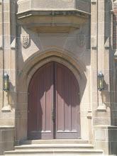 Photo: details around the door of Cravath Hall