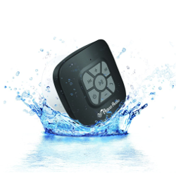 The AquaAudio™ Cubo - Waterproof Bluetooth Wireless Speaker with Strong Suction Cup for Showers, Bathroom, Pool, Boat, Car, Beach, Outdoor etc. / Optimized Buttons for Easy Control / Amazingly Powerful & Crystal Clear Sound