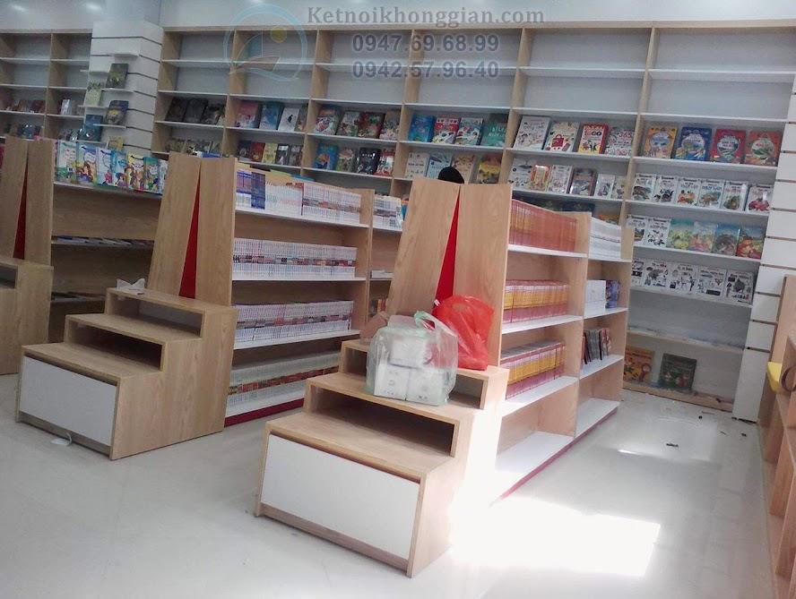 thiết kế thi công nhà sách thoải mái